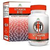 Vitamina B12 Metilcobalamina - 250mcg - Vit B12 Alta Concentración - Para Hombres y Mujeres - Apto Vegetarianos - 180 Pastillas (Suministro Para...
