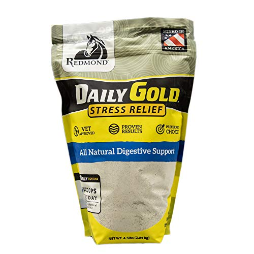 Redmond Daily Gold Stress Relief, Natural Healing Clay for Gastric Ulcers in Horses ( 4.5 LBS)