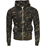 Kayhan Hombre Jacke New York, Camouflage/Green (L)