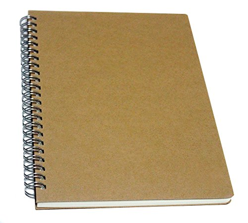 YUREE Spiral Notebook/Spiral Journal, Hardcover Spiral Lined Notebook, 140 Pages (70 Sheets) with Wide Ruled, A5, 8.4' x 5.9'