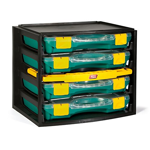 TAYG 301001 Multibox 1 inkl. 4 Sortimentkoffern Nr. 22 335 x 250 x 275 mm, verde amarillento