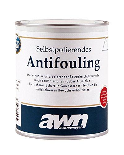 AWN Antifouling selbstpolierend Weichantifouling für Boot und Yacht bis 40 Knoten - blau 0.75l