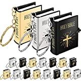 18 Pieces Mini Book Keychain Miniature Book Keyring for...