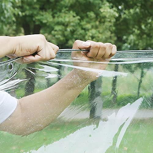 Lonas Impermeables Exterior, Lonas De Plástico Transparente Impermeable De PVC, Toldo A Prueba De Lluvia Con Aislamiento Antienvejecimiento Para Exteriores, Patio, Jardín, Flores, Plantas,Clear,0.8x2m