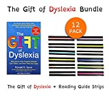 The Gift of Dyslexia by Ronald D. Davis + Reading Guide Strips for dyslexia (12 PACK) | A New and Complete Science-Based Program for Reading Problems at Any Level | NEW!!