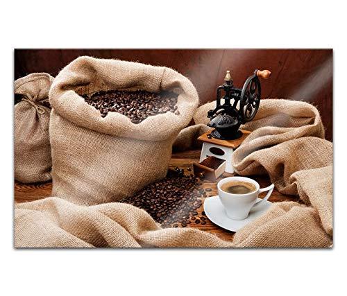 Acrylglasbilder 80x50cm Coffee Kaffee Cafe Korn Körner Bohnen Sack Acryl Bilder Acrylbild Acrylglas Wand Bild 14H117