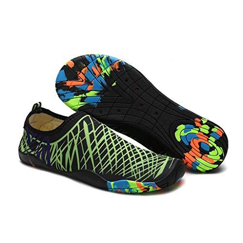 SHTAXJWXW Hombres ligeros Aqua Zapatos de agua descalzo Zapatos de agua para mujer Zapatillas para caminar de la playa de las mujeres de verano Calcetines de secado rápido de los hombres ( Size : 38 )
