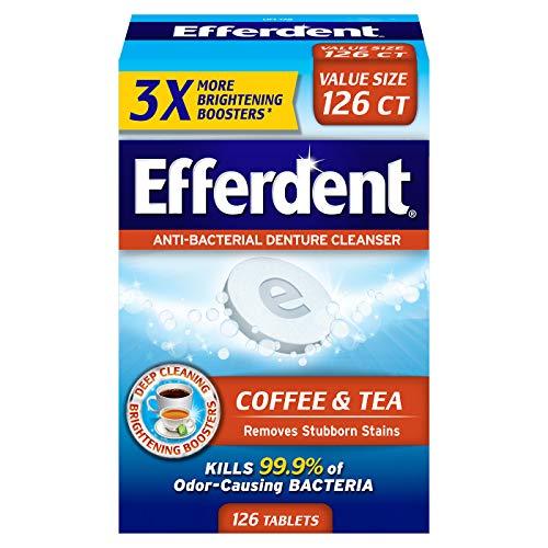 Efferdent Coffee & Tea Denture Cleanser | 126 Tablets