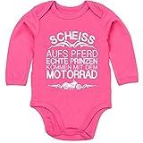 Shirtracer Sprüche Baby - Scheiß aufs Pferd echte Prinzen kommen mit dem Motorrad - 12/18 Monate -...