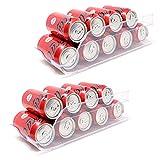 QILZO® Juego de 2 Cajas de almacenaje para Nevera y congelador Organizador de latas para...