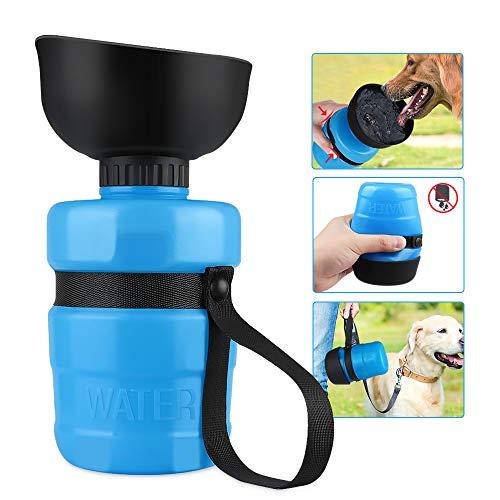 OUTOPE Hundetrinkflasche für Unterwegs, 550ml Tragbare Haustier Trinkflasche, BPA-Frei Hund Wasserflasche, Hunde Wasserspender für Camping, Spaziergang, Wandern, Training, Unterwegs Outdoor