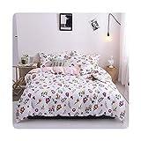 Colorplastic Juego de ropa de cama de tamaño Queen con diseño de cactus verdes para el hogar, sábana de cama individual,...