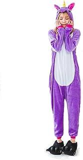 Kimily-UK Unisex Unicorn Pajamas 3D Novelty Cosplay Animal Costumes Onesie Flannel Warm Sleepwear Cute One Piece Jumpsuit ...