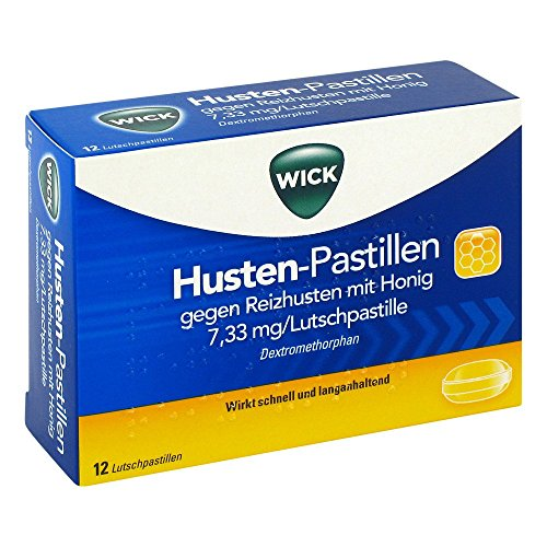 WICK Husten Pastillen gg.Reizhusten m.Honig 12 St