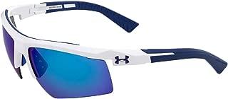 Under Armour Men's Core 2.0 Sunglasses Shield, White/Gray Lens, 69 mm