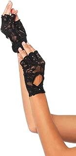 Women's Lace Keyhole Fingerless Gloves