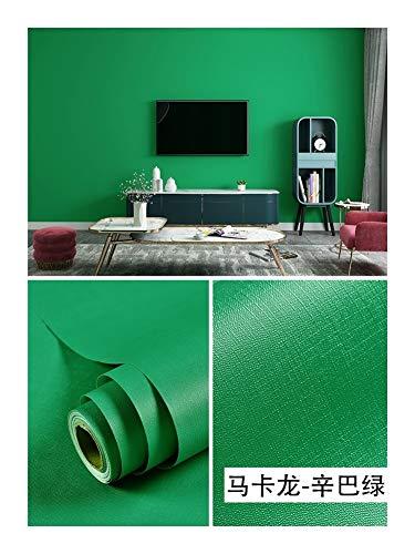 HDS Selbstklebenden Fest Tapete Farbe Dunkelgrün Dunkelgrün Wasserdicht Warm Schlafzimmer Schlaf Schreibtisch Kleiderschrank Wand Renovierung Tapete (Color : 3)