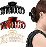 Ealicere 3 Stück 11cm Vintage Einfache Kunststoff Klaue Clips, Rutschfeste Haarnadel Dicke Haare...