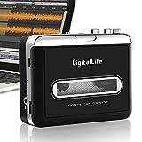 Portátil Walkman Reproductor de Casetes - DigitalLfie USB Conversor Cassette a MP3 - Walkman Tape Cassette To MP3 Grabadora [Compatible con PC/Mac]