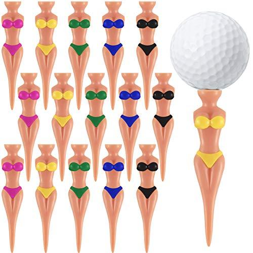 15 Stück Lustige Golf Tees Dame Bikini Mädchen Golf Tees, 76 mm (3 Zoll) Kunststoff Pin-up Golf Tees, Haus Frauen Golf Tees für Golftraining, Golf Zubehör