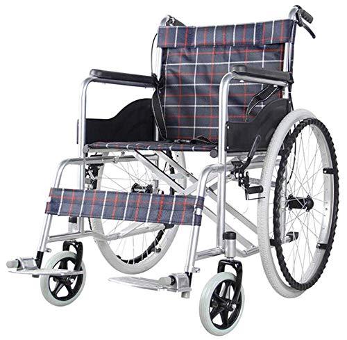 Opvouwbare Ouderen Rolstoel Drive Medische Draagbare Zelfrijdende Scooter 14Kg Vouwstoel is Draagbaar, Voor- en Achterrem, 46Cm Brede Zitting, Gewicht Capaciteit 100Kg, Y-L