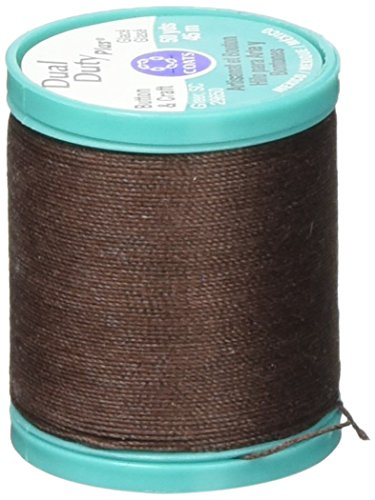 Coats & Clark Dual Duty Plus Button & Carpet Thread 50yd, Chona Brown
