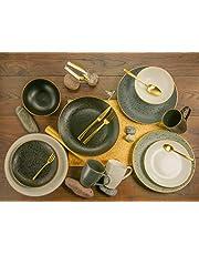 CreaTable, 14634, Serie Industrial Gold, Servies Set, Combiservies 16-Delig, Steengoed