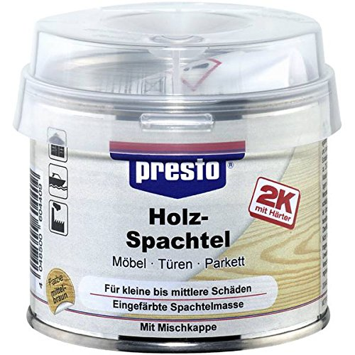 Presto 604416 Spezialspachtel Holzspachtel Dunkel, 250 g