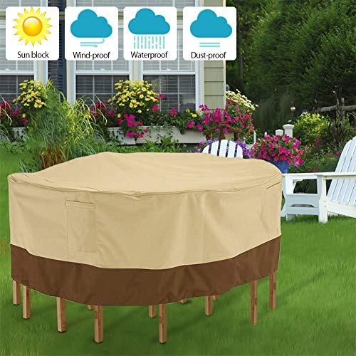 ZDYLM-Y Gartenmöbel Abdeckung, Hochleistungs 210D Oxford wasserdichte Gartenmöbel für den Außenbereich für große ovale Stühle,239 * 58cm