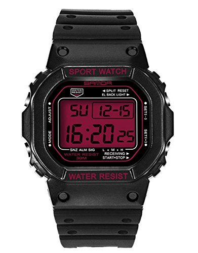 SANDA Digitaluhr Herrenuhr Wasserdicht Kalender LED Sportuhr Relogio Masculino , 3
