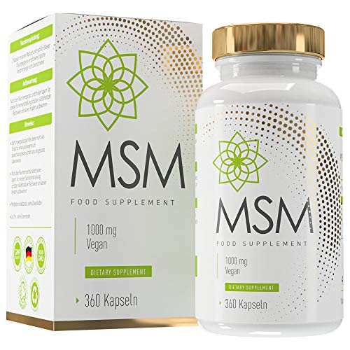 MSM Kapseln Vegan - aus Bambus - Laborgeprüft - 360 Kapseln - Made in Germany - MVN®