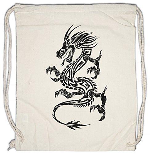 Urban Backwoods Tribal Chinese Dragon I Turnbeutel Sporttasche