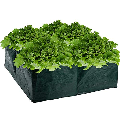 Cesta de jardín elevada, maceta cuadrada de polietileno, bolsa de cultivo para plantas, flores,...