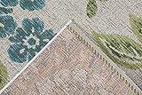 Luxor Living Outdoorteppich Webteppich Lost Garden für den Außenbereich florales Design/In- und Outdoor geeignet, Farbe:Beige-Blau, Größe:80 x 150 cm - 2