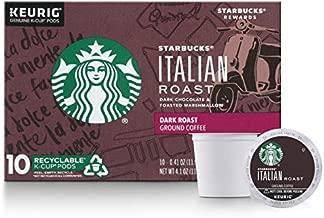 Starbucks Dark Roast K-Cup Coffee Pods — Italian Roast for Keurig Brewers — 6 boxes (60 pods total)