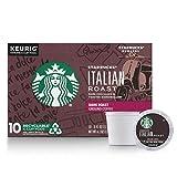 Starbucks Dark Roast K-Cup Coffee Pods — Italian Roast for Keurig Brewers — 6 boxes (60 pods...