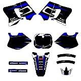 Adhesivo de Motocross Modificado Equipo de Motocicleta Etiqueta engomada gráfica Decal Kit Deco para Yamaha yz250 yz 250 1993 1994 1995 (Color : Blank)