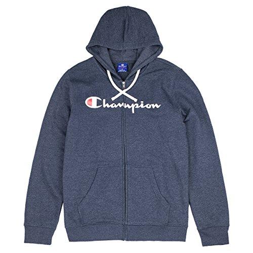 Champion Hooded Full Zip Sweatshirt Sudadera con Capucha, Azul (Bme Bleu Bs509), XX-Large para Hombre