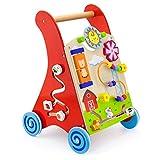 Viga Toys - 50950 - Jouet De Premier Age - Chariot À Pousser - Multi Activités - Rouge