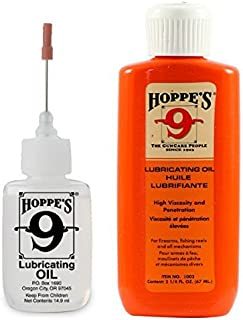 Hoppe's Oil Combo Pack – No. 9 Precision Bundled with 2-1/4 oz Refill
