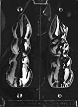 Grandmama's Goodies E061 Large Hollow Flop Eared Bunny Chocolate Candy Soap Mold with Exclusive Molding Instructions