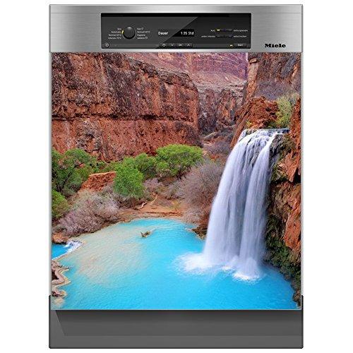 SHIRT-TO-GO Aufkleber für Spülmaschinen Geschirrspüler - Motiv Wasserfall