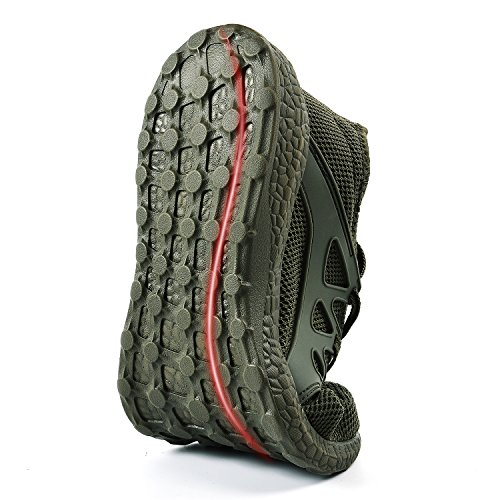Feetmat Gym Shoes for Men Comfortable Knit Breathable Tennis Sport Walking Shoes Green 6.5 D(M) US