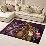 Sdhuat Five Nights at Freddy's FNAF Cartoon 3D Printing Super Soft Personalized Carpet Decorator Floor Rug and Carpets white11 63 X 48 Inch(One size)
