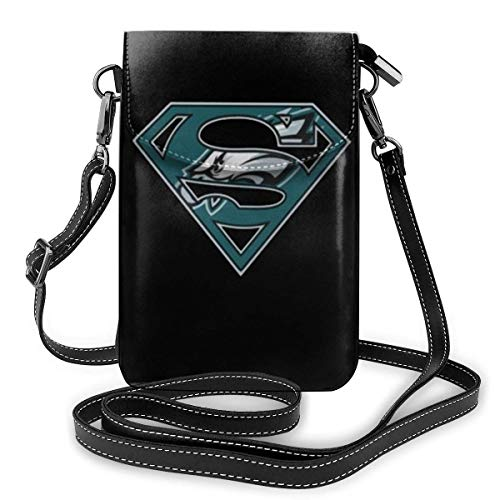 Unisex Philadelphia Fly Eagles Fly Small Cell Phone Purse One Size