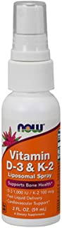 Now Foods Vitamin D-3 K-2 Liposomal Spray D-3 1000 IU K-2 100 mcg - 59 ml