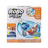 Robo Fish- Super Acuario Juguetes incluye dos peces, Color Blanco (ZU7162)