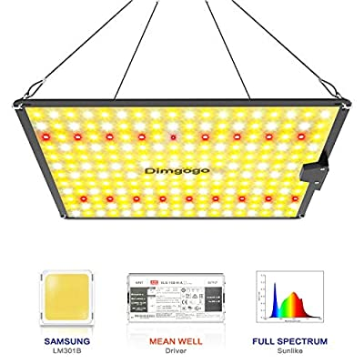 Dimgogo GO-1000 LED Grow Light Full Spectrum Plant Growing Lamps Sunlike with LM301B Diodes & MeanWell Driver for Indoor Veg and Flower Growing Lamp