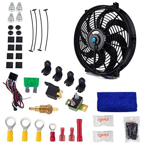 Ventilador de refrigeración para automóviles para 12V 90W 14 pulgadas de alta potencia de alta potencia, ventilador de refrigeración, ventilador, potente, ventilador, mini acondicionador de aire con m