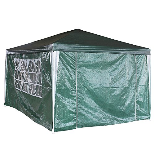 Panana-B 3 x 4m Waterproof Gazebo Garden Party Tent Marquee Canopy with 4 Side Panels Green